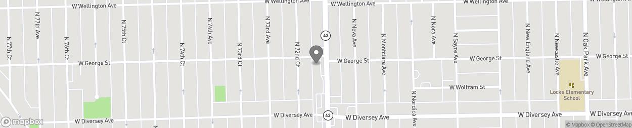 Map of 2850 N Harlem Ave in Elmwood Park