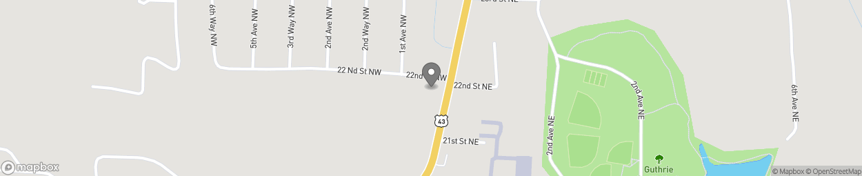 Map of 2239 Temple Ave N in Fayette