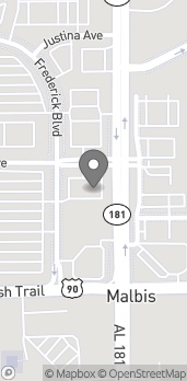 Map of 9912 Dimitros Blvd in Daphne