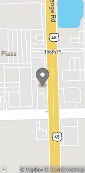 Mapa de 15896 S. Lagrange Rd en Orland Park