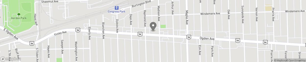 Map of 9310 Ogden Avenue in Brookfield