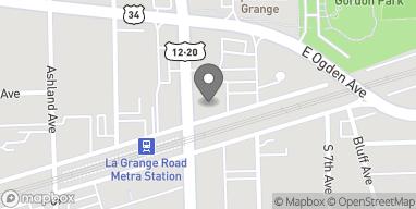 Map of 1 N. La Grange Road in La Grange