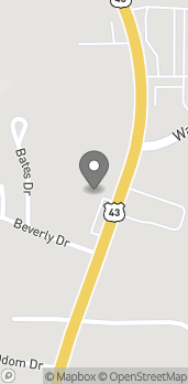 Map of 4125 N College Ave in Jackson