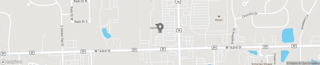 Map of 14212 South Bell Road in Homer Glen