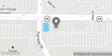 Mapa de 445 E Townline Rd en Vernon Hills