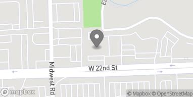 Map of 17w504 22nd St in Oakbrook Terrace