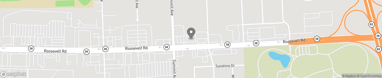 Map of 240 E Roosevelt Rd in Villa Park