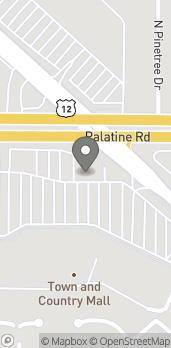 Mapa de 585 E. Palatine Road en Arlington Heights