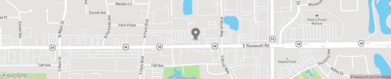 Map of 696 Roosevelt Rd in Glen Ellyn