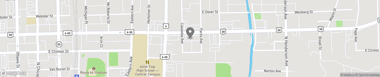 Map of 454 E Cass St in Joliet