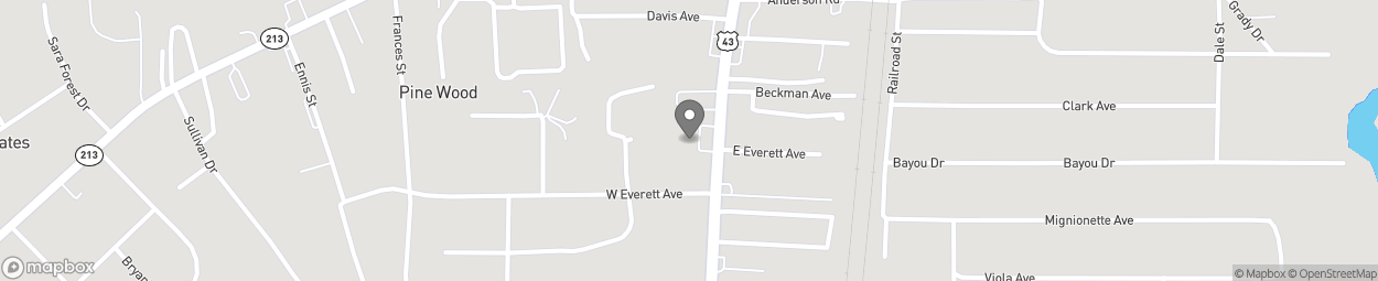 Map of 181 Saraland Blvd S in Saraland