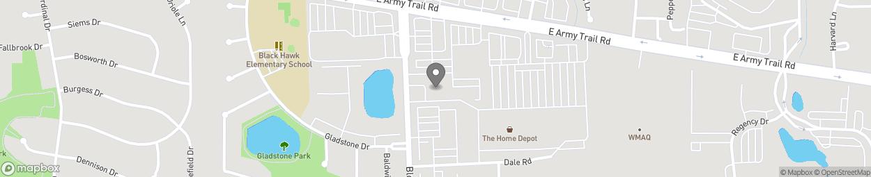 Map of 2075 Bloomingdale Road in Glendale Height