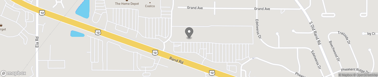 Map of 740 South Rand Road in Lake Zurich