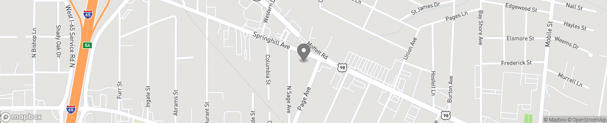 Map of 3107 Springhill Avenue in Mobile