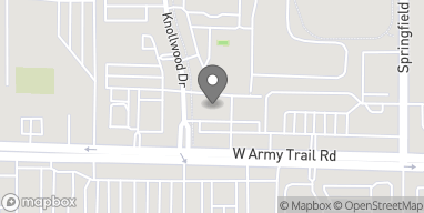Map of 383 W Army Trail Rd in Bloomingdale