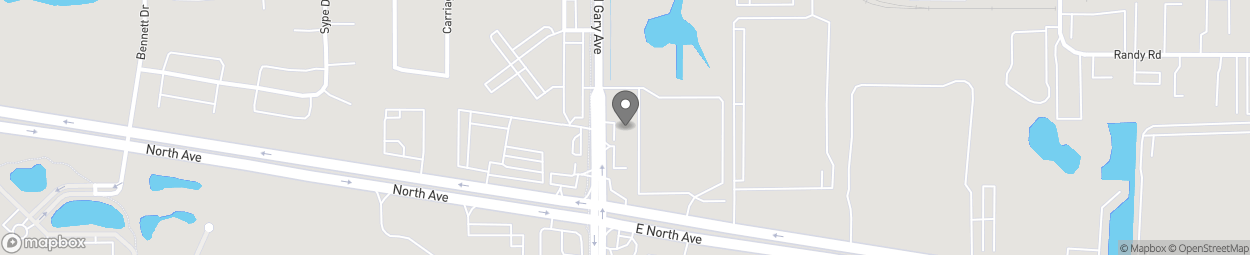 Map of 145 North Gary Avenue in Carol Stream