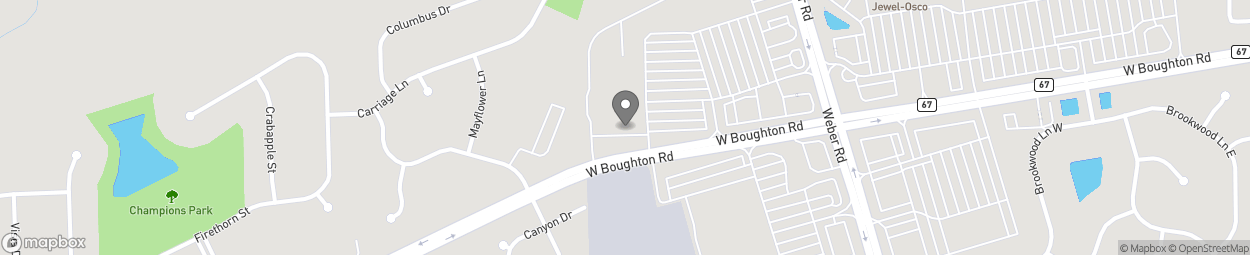 Map of 257 N Weber Rd in Bolingbrook