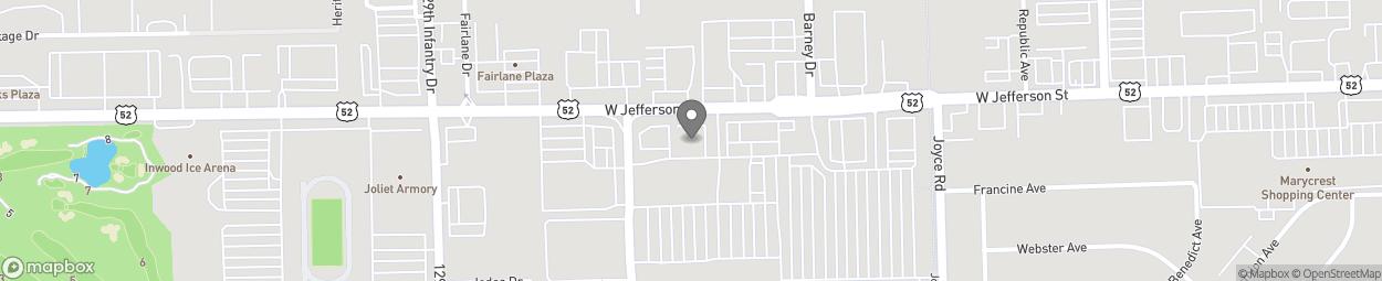 Map of 2510 W Jefferson Street in Joliet