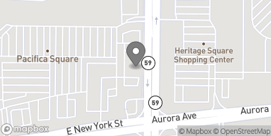 Map of 4412 E New York St in Aurora