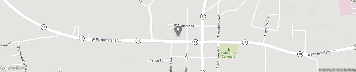 Map of 227 W Pushmataha in Butler