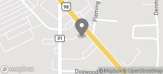 Map of 7751 Moffett Road in Mobile