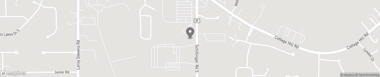 Map of 2600 Schillinger Road in Mobile