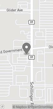Map of 720 Schillinger Road S in Mobile