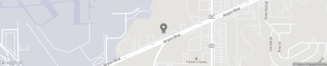 Map of 7956 Airport Blvd in Mobile