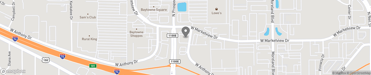 Map of 805 Marketview Drive West in Champaign