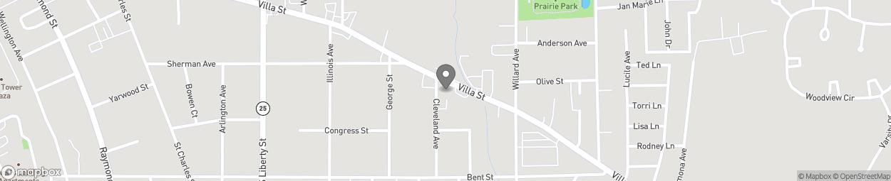Carte de 755-757 Villa Street à Elgin
