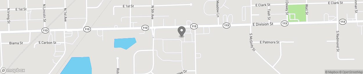 Map of 1135 E Division St in Coal City