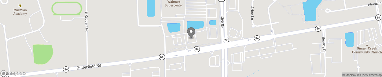 Map of 1386 Butterfield Rd in Aurora
