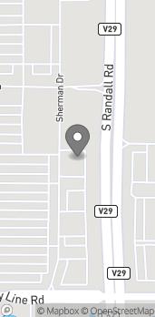 Mapa de 1454 S. Randall Rd en Algonquin