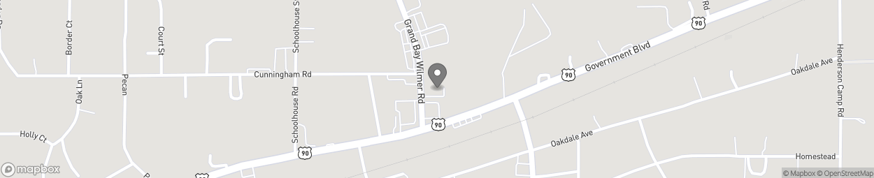 Map of 10175 Grand Bay Wilmer Rd So in Grand Bay