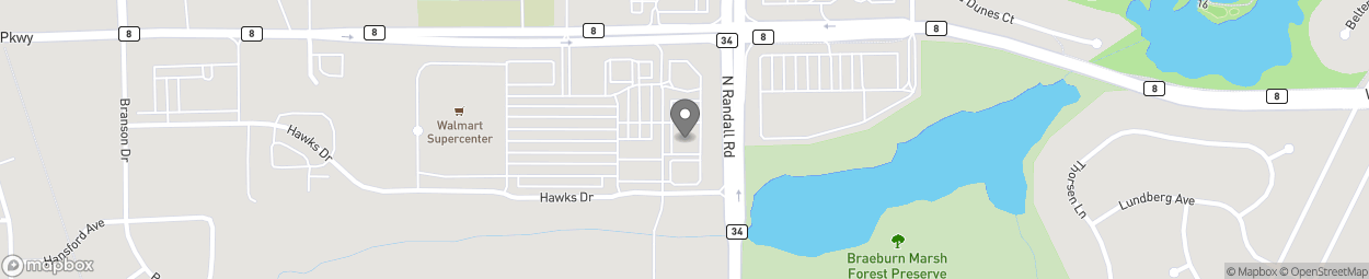 Map of 861 North Randall Road in Batavia