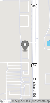 Map of 1330 Orchard Rd in Aurora