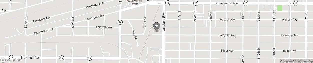 Map of 317 Lake Land Blvd in Mattoon