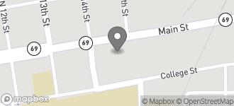 Map of 1406 Main Street in Columbus
