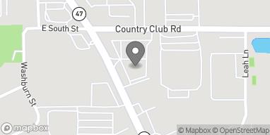 Mapa de 345 S Eastwood Dr en Woodstock