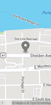 Mapa de 702 Shelden Avenue en Houghton