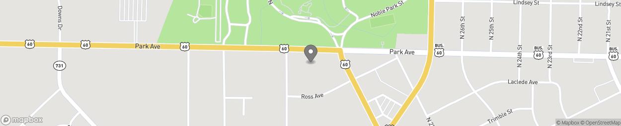 Map of 2828 Park Avenue in Paducah