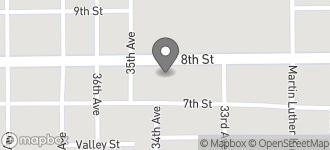 Map of 3325 8th Street in Meridian