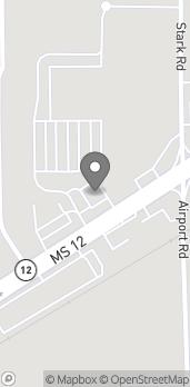 Map of 902 1/2 Mississippi Highway 12 West in Starkville