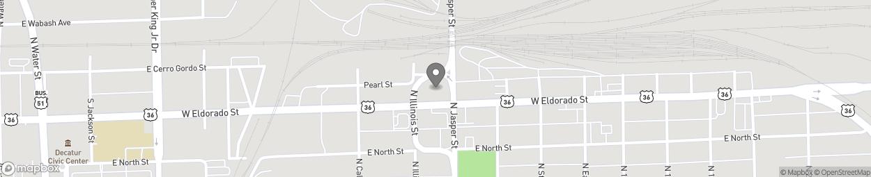 Map of 1112 E Eldorado Street in Decatur
