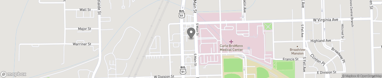 Map of 1309 South Main Street in Normal
