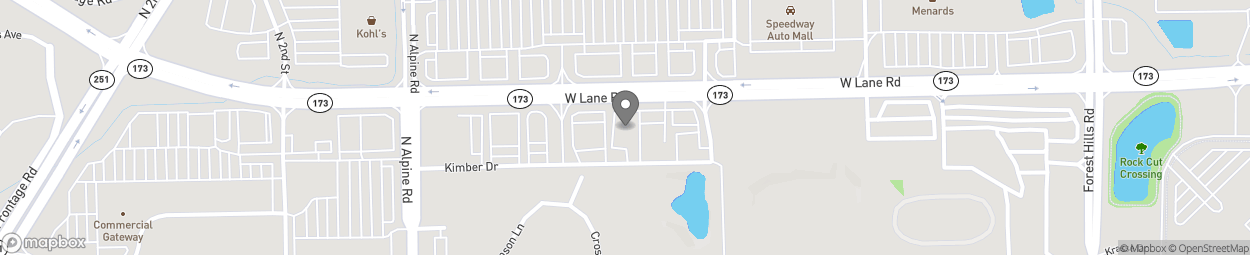 Map of 1539 W Lane Rd in Machesney Park