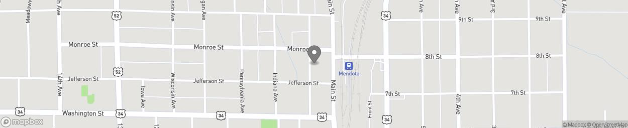 Map of 807 Illinois Avenue in Mendota