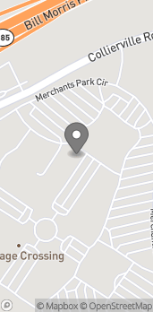 Map of 4674 Merchants Park Circle in Collierville