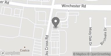 Map of 3720 Hack Cross Road in Memphis