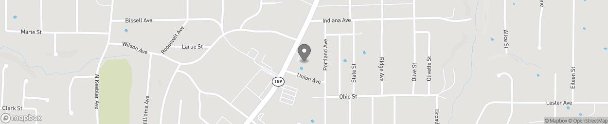 Map of 1274 Vandalia Street in Collinsville
